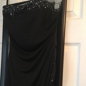 Black Strapless Formal Dress